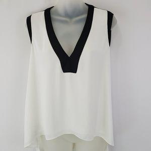 Bcbgmaxazria sleeveless draped back top NWT